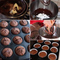 preparare muffins cu ciocolata