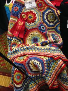 beautiful colors - hexagon granny inspiration