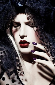 Photo by Gabor Jurina Fashion Oct 2012 - Dark Ages Fashion Styling by Zeina Esmail Hair & Makeup by Greg Wencel Nails by Leeanne Colley Goth Beauty, Fashion Beauty, Dark Fashion, Gothic Fashion, Women's Fashion, Beauty Editorial, Editorial Fashion, Gothic Trends, Dark Beauty Magazine