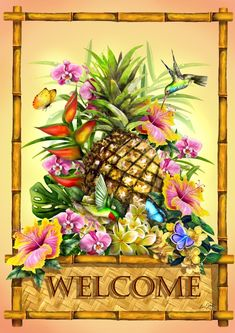 Welcome Tropical Sign