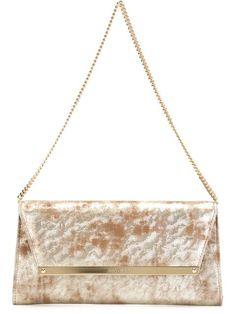 JIMMY CHOO 'Margot' Clutch. #jimmychoo #bags #shoulder bags #clutch #metallic #suede #hand bags