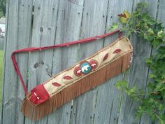 Handmade Flute or Pipe Bag with hand carved bone by ncbeadsnbags, $295.00