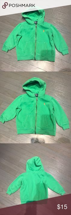 Polo Ralph Lauren Green Zip Hoodie Orange Pony Polo Ralph Lauren Green Zip Hoodie Orange Pony Polo by Ralph Lauren Shirts & Tops Sweatshirts & Hoodies