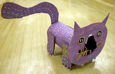 3-D Animal sculpture, toilet paper tube