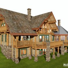 2788 sq ft - Waterdance RCM CAD DESIGN DRAFTING LTD is an architectural design firm primarily specializing in log and timber construction projects. Log Home Builders, Log Home Floor Plans, Timber House, Post And Beam, Luxurious Bedrooms, Design Firms, Log Homes, Second Floor, Building Design