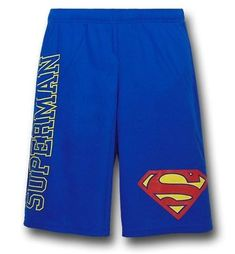 The 100% polyester Superman Logo and Symbol Mesh Shorts are based on DC Comics' Man of Steel and perfect for the gym or nice weather!