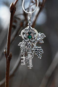 Celtic Garden Key Necklace