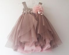 Halter Ankle Length Girl Tutu Dress with stretch by AylinkaShop