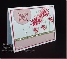 Stampin' Up! ... hand crafted card ... pink monochromaic ... like the design with sentiment in off-the-edge die cut circle ...