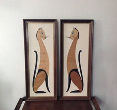 Vintage Mid Century Modern Pair of Siamese Cat by MidCenturyMary