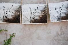 art print etchings on handmade paper.