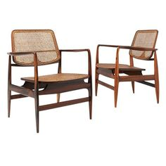 """Pair of """"Oscar"""" Armchairs by Sergio Rodrigues, 1956 