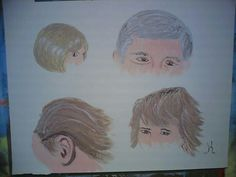 Different hair styles to paint in today's lesson.