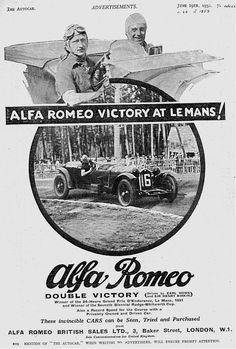 Alfa Romeo Ad - Victory at LeMans