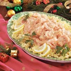 Shrimp in Cream Sauce Recipe -Looking for an extra-special Christmas Eve entree to delight your busy crowd? My family always manages to make time for this rich shrimp dish. We enjoy it over golden egg noodles.