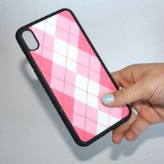Pink Argyle Phone Case - iPhone 12/12 Pro