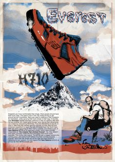 """New Balance H710, the first sneaker to """"climb the Everest"""""""