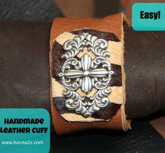Handmade Leather Cuff Tutorial EASY!