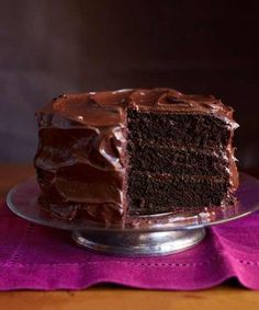 The best Chocolate layer Cake - My go to recipe since I began cooking in the early 60's, the flavor is unbeatable. It is the best Chocolate Cake recipe ever and easy to make. My grandmother taught it to me but she got it out of the Good Housekeeping Magazine in hte 20's or 30's
