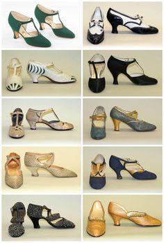 1920s ladies shoes. metmuseum.