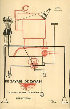 Francis PICABIA. I saw Marius DE ZAYAS, New York, 1915