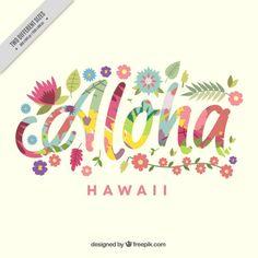 Aloha Hintergrund Mit Bunten Blumen Kostenlose Vektoren Hawaiian BackgroundTropical