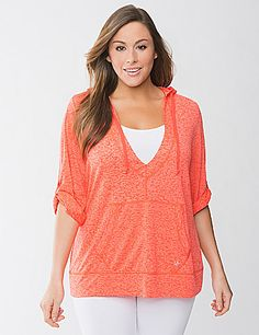 Burnout pullover hoodie by Lane Bryant