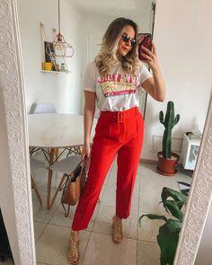Red Fashion Outfits, Zara Fashion, Black Girl Fashion, Look Fashion, Urban Fashion, Casual Summer Outfits For Women, Classy Outfits, Stylish Outfits, Spring Outfits