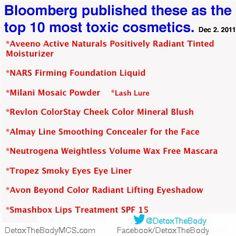 paleo hair, skin and beauty toxic cosmetics
