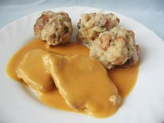 Moha Konyha: Vadas zsemlegombóccal Easy Healthy Recipes, Meat Recipes, Easy Meals, Cooking Recipes, Hungarian Cuisine, Hungarian Recipes, Hungarian Food, What To Cook, Easy Cooking