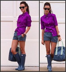 Shorts and hunters. Great color combo