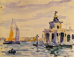 "Henri-Edmond Cross, ""La Dogana"" (1903; acquerello; coll. priv.)"