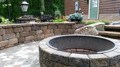"""42"""" inside diameter. Designed and installed in Sept. 2012 by Brown Landscaping & Construction, Inc."""