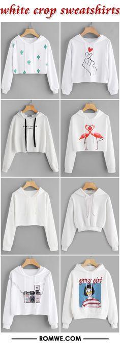 white crop sweatshirts from romwe.com