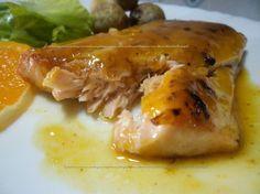 Lombinhos de salmão com laranja  http://receitasdaromy.blogspot.pt/2014/09/lombinhos-de-salmao-com-laranja.html