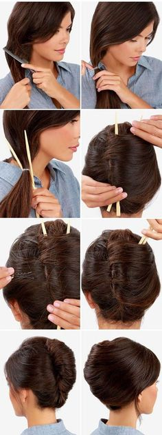 Lulus How-To: Easy French Twist – Hair Styles Twist Hairstyles, Trendy Hairstyles, Wedding Hairstyles, Hairstyles 2016, Long Haircuts, 1930s Hairstyles, Summer Hairstyles For Medium Hair, Hair Tutorials For Medium Hair, Easy Work Hairstyles