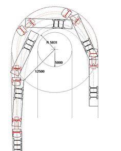 Minimum turning for bus & lorry treller Industrial Architecture, Architecture Details, Parking Plan, Car Parking, Architect Data, Transportation Engineering, Garage Dimensions, Warehouse Design, Driveway Design