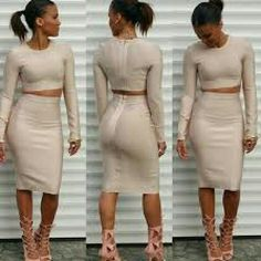 Two piece dress Blush color,  two piece skirt set thick high quality materials, never worn, AFF Dresses Long Sleeve