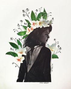 priyanka chopra flower collage by kate rabbit - No. 90/100