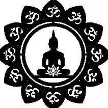 mandala buda buddha yoga flor lotus meditação decora 50x50cm