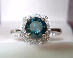 This is the only peice of jewelry I would want for the rest of my life. blue diamond ring