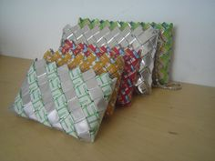 Recycled plastic bag Crafts | ... my 1st one last few years. Why i like recycled material to make purse