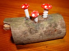 such a cool idea!  screws made into shrooms??!