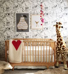 15 Adorable Ideas for an Animal-Themed Nursery Boho Nursery, Nursery Neutral, Nursery Room, Girl Nursery, Kids Bedroom, Baby Room, Kids Rooms, Woodland Nursery, Nursery Themes