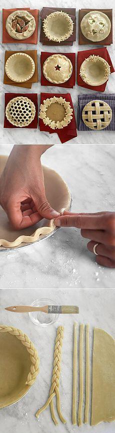 Идеи для оформления пирога.