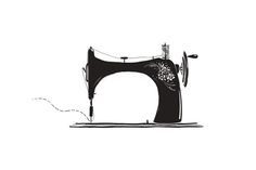 Vintage Inky Sewing Machine - Illustrations - 1