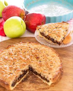 tarta-de-manzana Tarte Orange, Pie Recipes, Cooking Recipes, Recipies, Sweet Cooking, Sweet Pie, Cakes And More, Food Hacks, Apple Pie