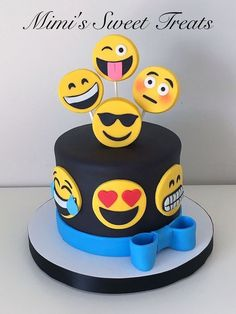 Exclusive Photo of Birthday Cake Emoji . Birthday Cake Emoji Emoji Cake With Rice Krispie Marshmallow Fondant Covered Topper cake decorating recipes kuchen kindergeburtstag cakes ideas Lego Torte, Fondant Cakes, Cupcake Cakes, Reis Krispies, Strawberry Birthday Cake, Emoji Cake, Birthday Cake Emoji, Birthday Cupcakes, Birthday Cake With Photo
