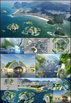 belgium-born and paris-based archibiotec vincent callebaut is in the research and development stages of a 3D printed oceanscraper called 'AEQUOREA'.