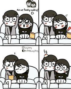 Love Cartoon Couple, Cute Couple Comics, Couples Comics, Comics Love, Cute Couple Quotes, Cute Comics, Funny Comics, Couple Memes, Funny Couples Memes